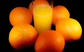 Картинка стакан, фон, апельсины, сок, фрукты, цитрусовые