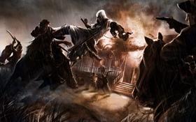 Обои люди, пожар, лошади, Assassins Creed, Cicatrizes da Liberdade 3