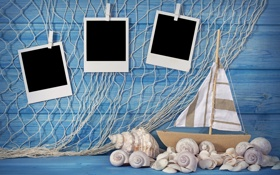 Обои photos, раковины, boat, shells