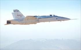 Обои NASA, air, F/A-18, test