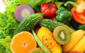 Обои ягоды, фрукты, овощи, fresh, fruits, berries, vegetables
