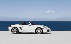 Картинка white, Porshe, cars, auto, Boxster, wallpapers auto, Cabrio