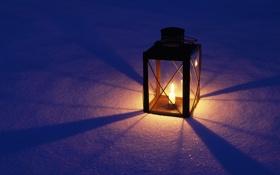 Картинка свет, снег, фонарь