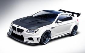 Картинка тюнинг, бмв, BMW, белая, white, front, обвес