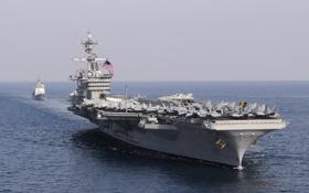 Обои море, авианосец, USS, типа «Нимиц», Carl Vinson, (CVN-70)