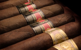 Картинка red, gold, black, Brown, tobacco, Habanos