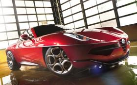Картинка Alfa Romeo, Superleggera, Disco Volante, Nouring