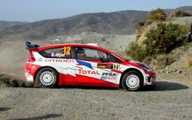 Обои Гонка, Тотал, Citroen, Спорт, Rally, WRC, Sebastien Ogier