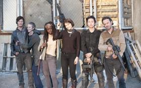 Обои группа, сериал, актеры, The Walking Dead, Ходячие мертвецы