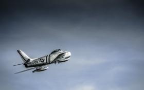 Обои небо, крылья, хвост, самолёт, FU - 178