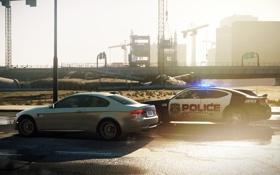 Обои машины, город, bmw, трасса, полиция, Need for Speed, police