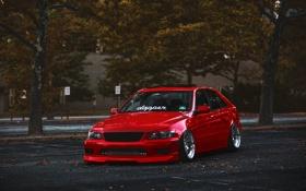 Картинка красный, тюнинг, Lexus, red, лексус, stance, is300