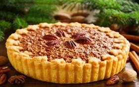 Обои сладость, пирог, орехи, гвоздика, выпечка