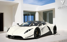 Картинка white, supercar, Shayton Equilibrium
