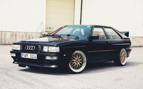 Обои Audi, Ауди, Машина, Тюнинг, Черная, Black, Quattro