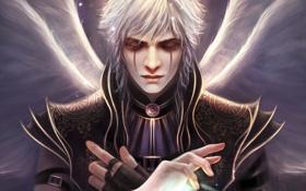 Картинка магия, крылья, руки, арт, мужчина, парень, Nakai Wen
