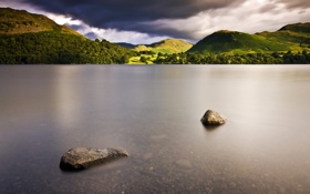 Обои камни, пейзаж, озеро