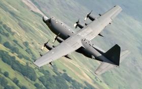 Картинка полёт, самолёт, военно-транспортный, C-130M
