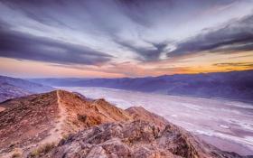 Картинка Badwater, долина, пустыня, Death Valley National Park, California, национальный парк, соленое озеро