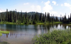 Обои США, Washington, фото, природа, Mount Rainier, парк, озеро