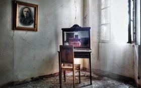 Картинка окно, стул, комната