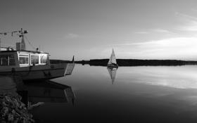 Обои вода, фото, обои, пейзажи, лодки