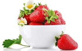 Картинка ягоды, клубника, миска