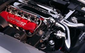 Обои двигатель, viper, додж, вайпер, хром, мотор, dodge