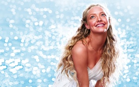 Картинка радость, улыбка, блики, блондинка, Amanda Seyfried, Sophie, Аманда Сайфред