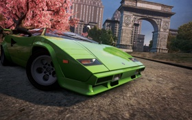 Обои город, спорткар, классика, ракурс, Lamborghini Countach, need for speed most wanted 2012