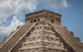 Картинка пирамида, архитектура, мексика, Chichen Itza