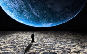 Картинка фантастика, земля, человек