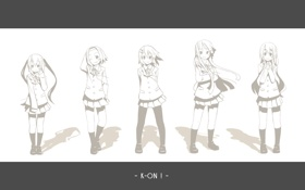 Обои девушки, Мио Акияма, K-on!, Юи Хирасава, Адзуса Накано, Цумуги Котобуки, Рицу Тайнака