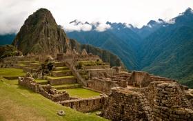 Картинка горы, камни, руины, древность, Перу, Мачу-Пикчу