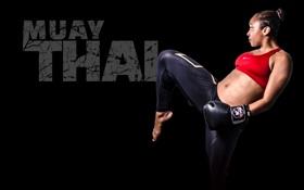 Картинка девушка, Muay Thai, спорт
