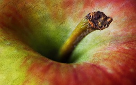 Картинка яблоко, плод, хвостик