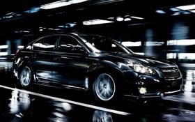 Обои Subaru, Машина, Движение, Чёрный, Car, Автомобиль, Cars