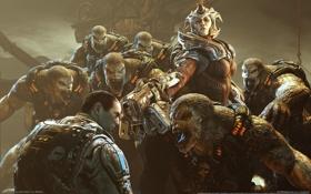 Обои монстры, Gears of War, враги