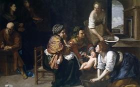 Обои Рождение Иоанна Крестителя, мифология, картина, Артемизия Джентилески