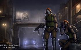 Обои банда, маски, арт, Saints Row IV, игра, gang concept, оружие