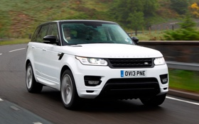 Обои white, Land Rover, Range Rover, auto, wallpapers, Sport