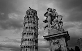 Картинка Италия, скульптура, Пиза, Italy, Pisa, Пизанская башня