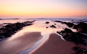 Обои закат, Tide, море