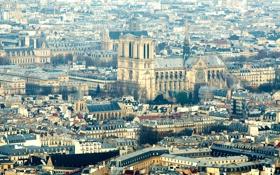 Обои Франция, Париж, панорама, мегаполис