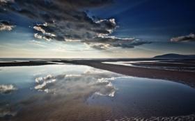 Картинка Cloud, Reflections, Walney Island