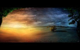 Картинка свет, тьма, MorningNight