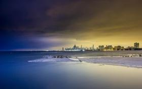 Картинка пейзаж, небоскребы, Чикаго, Мичиган, панорама, USA, Chicago