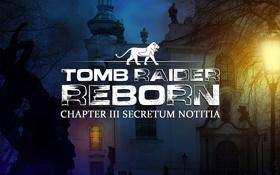 Обои фон, надпись, игра, окна, фонарь, тени, Tomb Raider