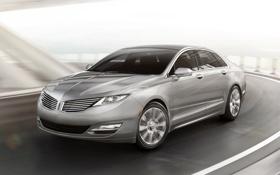 Обои дорога, Lincoln, седан, передок, гибрид, hybrid, линкольн