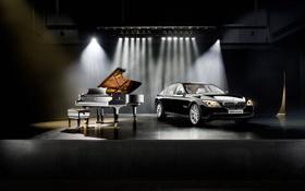 Обои черный, steinway, классика, BMW 7